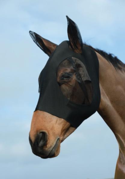 Lycra Fliegenschutzmaske schwarz